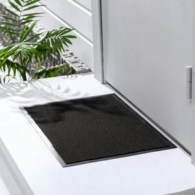 Коврик придверный влаговпитывающий, иглопробивной, «Эконом», 40×60 см, цвет чёрный