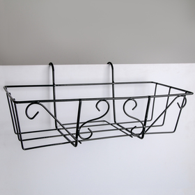 Подставка для цветов балконная 'Ренессанс' 45,5х18х20 см Ош