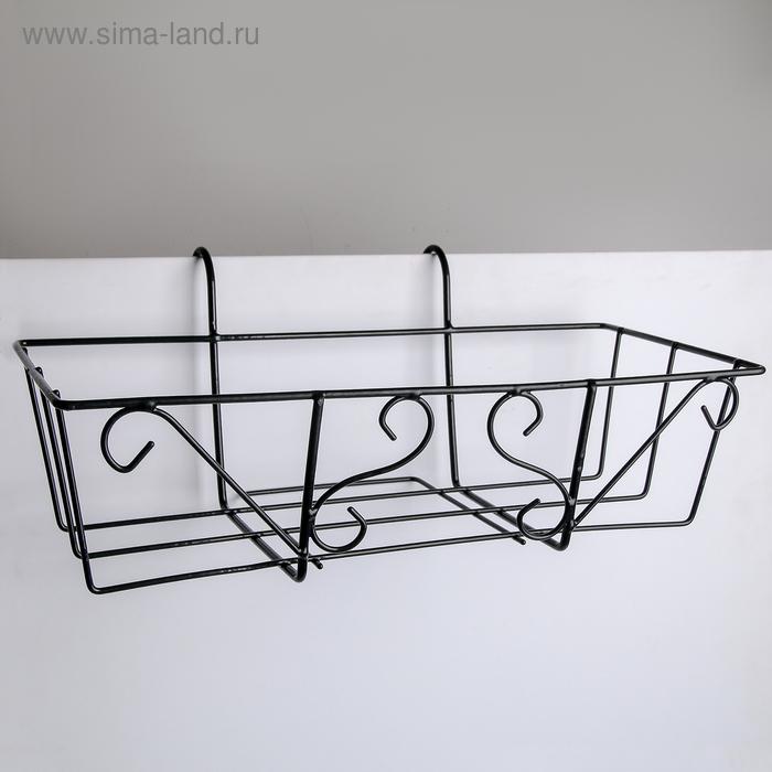 """Stand for flowers in the balcony """"Renaissance"""" 45,5х18х20 cm"""