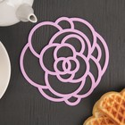 "A set of coasters under hot, 2 PCs 15 cm ""rose"", MIX colors"
