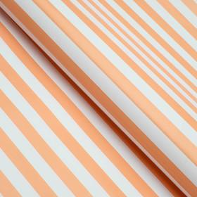 Бумага глянцевая, полоски, 49 х 70 см. Персиковая в Донецке