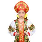 Русский народный костюм для девочки «Рябинка», платье, кокошник, р. 36, рост 134-140 см - фото 105521551