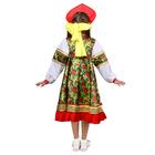 Русский народный костюм для девочки «Рябинка», платье, кокошник, р. 36, рост 134-140 см - фото 105521552