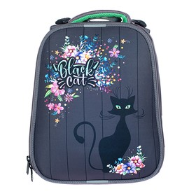 Рюкзак каркасный, Stavia, 38 х 30 х 16 см, эргономичная спинка, «Чёрная кошка»