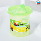 """Cup kids """"Transport"""" with rigid spout 200 ml, color yellow/green"""