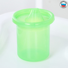 The stroller baby without causing with rigid spout 200 ml, colour green