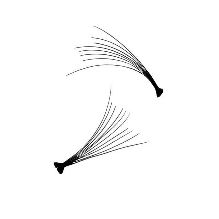 Ресницы для наращивания, пучки, 15мм, 60шт