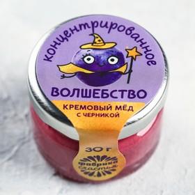 Крем-мёд «Концентрат», в банке, с черникой, 30 г.