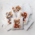 Набор подушек Крошка Я «Мишка» цвет белый 35х35 см -8 шт - фото 105555585