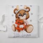 Набор подушек Крошка Я «Мишка» цвет белый/серый 35х35 см -8 шт - фото 105555598