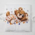 Набор подушек Крошка Я «Мишка» цвет белый/серый 35х35 см -8 шт - фото 105555600