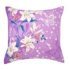 Наволочка Экономь и Я «Цветочный рай», размер 70х70 см, цвет сиреневый, бязь Ош