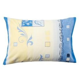 Наволочка Экономь и Я «Винтаж», цвет синий, размер 50х70 см, бязь Ош
