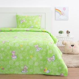 Детское постельное бельё Экономь и Я «Мишки» 1.5 сп, цвет зелёный, 145х210, 150х210, 50х70 см