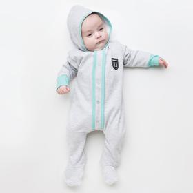 Комбинезон для мальчика, цвет серый/ментоловый, рост 62 см (40)