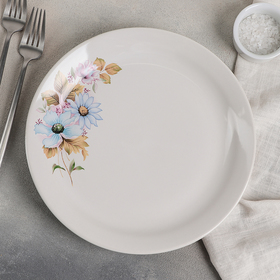 Блюдо «Цветы», d=26 см, рисунок МИКС