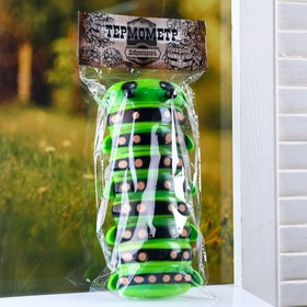 "Plastic thermometer window ""the Caterpillar"" in the package"