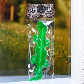 "Plastic thermometer window ""the lizard""in the package"