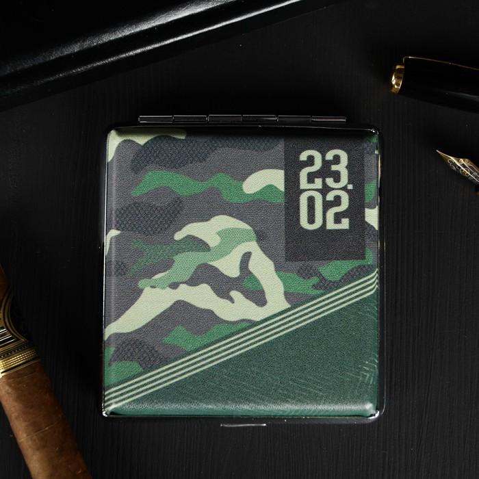Портсигар «23,02», 9.6 х 9,6 см