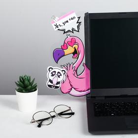 """Панель для стикеров на компьютер """"Фламинго"""""""
