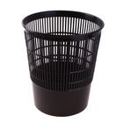 Корзина для бумаг 18 литров, сетчатая, черная, высота 330 мм