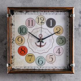 """Часы настенные, серия: Классика, """"Якорь"""" 24х24 см, дискретный ход"""