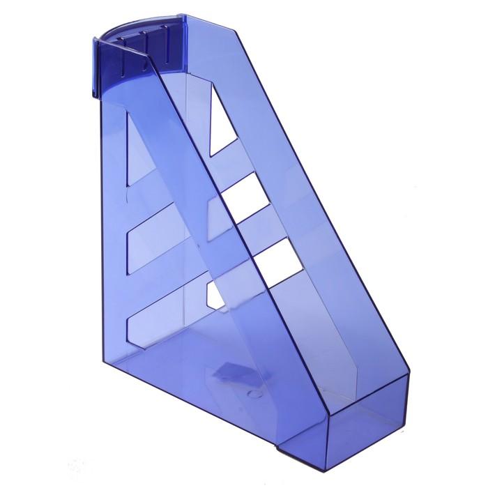 """Лоток для бумаг вертикальный """"Ультра"""", тонированный голубой"""