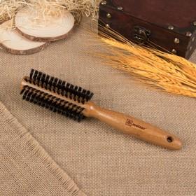 Brashing, d = 4,5 cm, natural bristle, light wood color