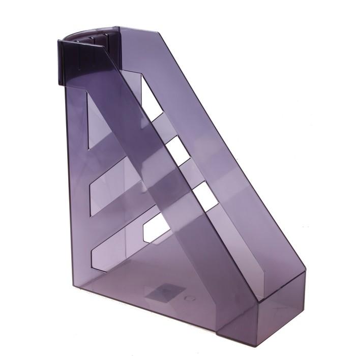 """Лоток для бумаг вертикальный """"Ультра"""", тонированный серый"""