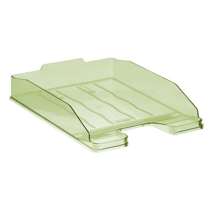 """Лоток для бумаг горизонтальный """"Эксперт"""", тонированный зелёный Лайм"""