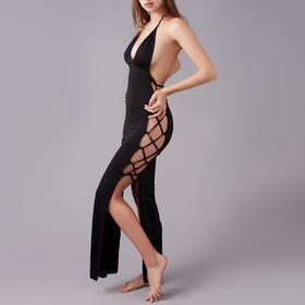 Комплект эротик «Королева» (платье, трусики), размер L, цвет чёрный