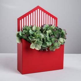 Коробка-письмо из переплётного картона «Роскошно красный», 7х20.5х29.5 см