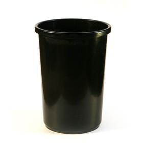 Корзина для бумаг пластик цельная 12л Uni черная