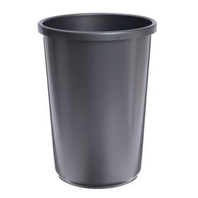 Корзина для бумаг пластик цельная 12л Uni серая