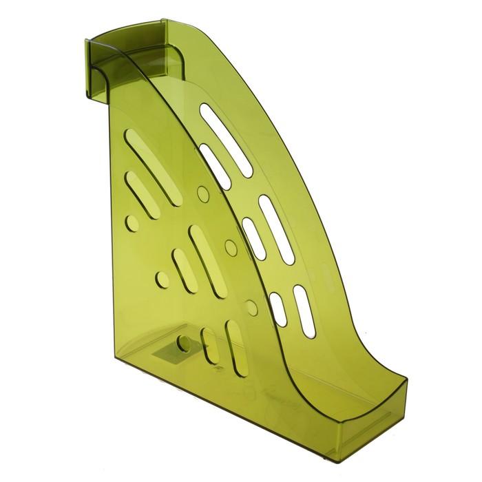 """Лоток для бумаг вертикальный """"Торнадо"""", тонированный зелёный лайм - фото 314357525"""
