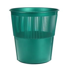 Корзина для бумаг пластик сетчатая 12л Uni зеленая