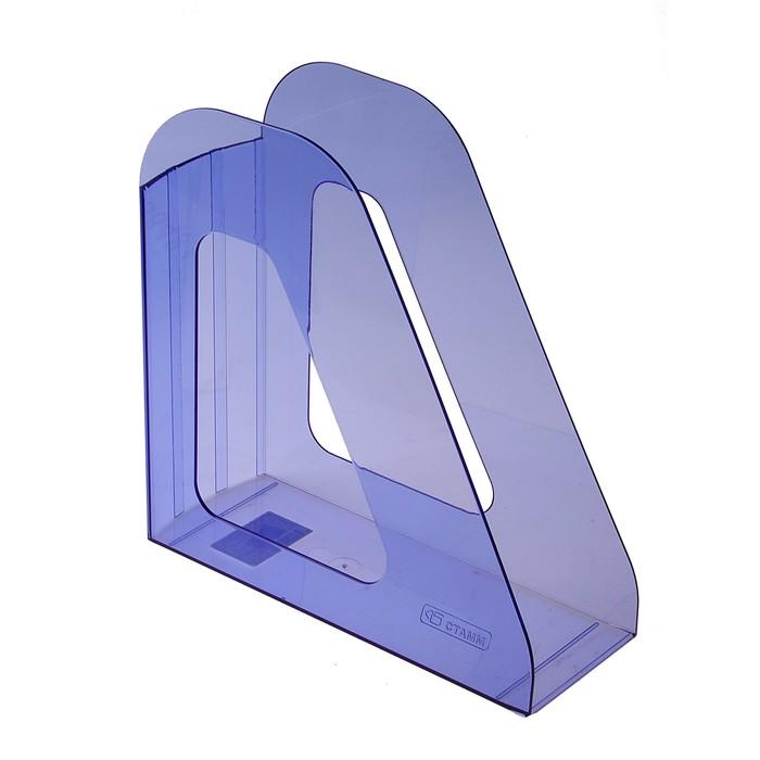 """Лоток для бумаг вертикальный """"Фаворит"""", тонированный голубой"""