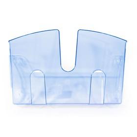 Лоток настенный 1-секц. прозрачно-синий