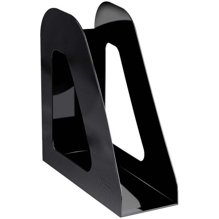 Лоток для бумаг вертикальный «Фаворит», чёрный - фото 366931590