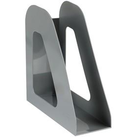 Лоток для бумаг вертикальный «Фаворит», серый