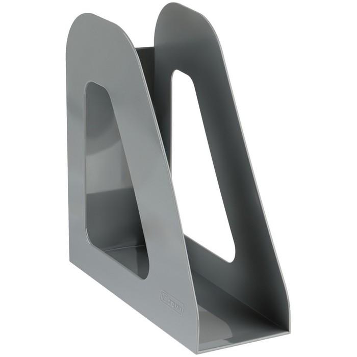 Лоток для бумаг вертикальный «Фаворит», серый - фото 370904393