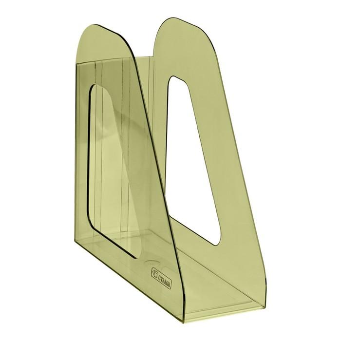"""Лоток для бумаг вертикальный """"Фаворит"""", тонированный зелёный Лайм"""