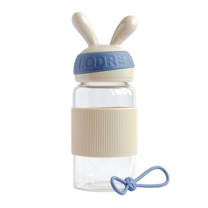 Бутылка для воды «Зайка» 340 мл, цвет бежевый