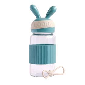 Бутылка для воды «Зайка» 340 мл, цвет бирюза