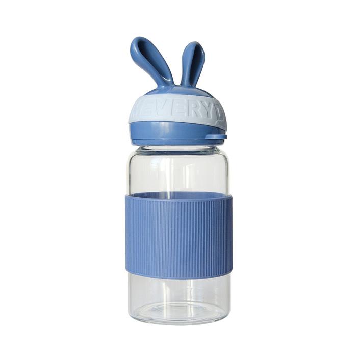 Бутылка для воды «Зайка» 340 мл, цвет синий