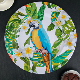 """The metal tray 33 cm """"Parrot"""""""