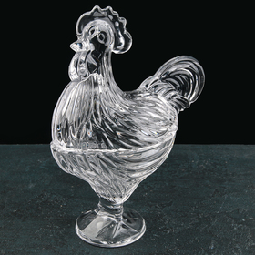 Candy bowl with lid Rooster 21.5x11.5x28 cm