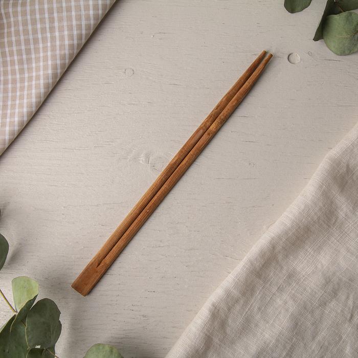 """Палочки для суши """"Япоша"""", карбонизированные из бамбука, 23 см в упаковке по 100 шт."""