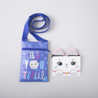 "Bag children's ""Be you tiful"" + ears hair clips"