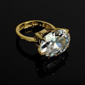 """Кольцо """"Леаль"""" размер 17, цвет белый в золоте"""
